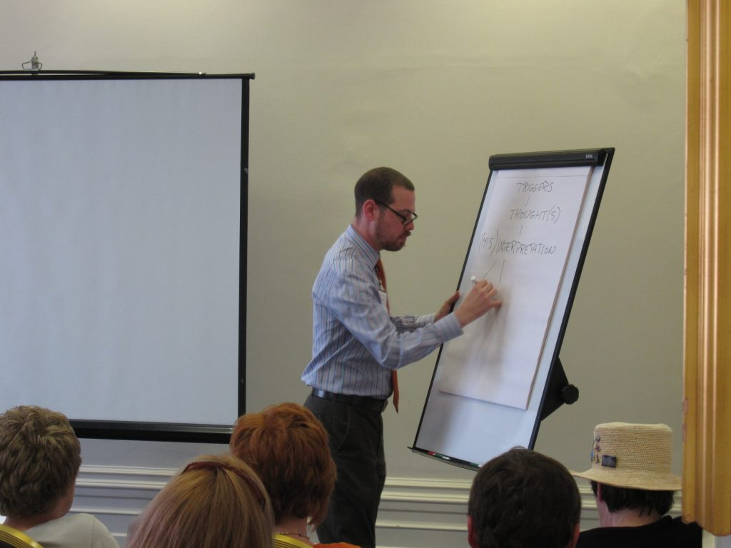 Prof Adam Radomsky at an OCD-UK event