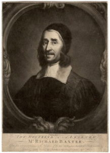 18th-century engraving of Richard Baxter, after a 17th-century portrait by John Riley published in 1763.