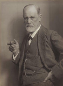 Sigmund Freud (1856–1939), the Austrian founder of psychoanalysis, photographic portrait by Max Halberstadt, c. 1921.