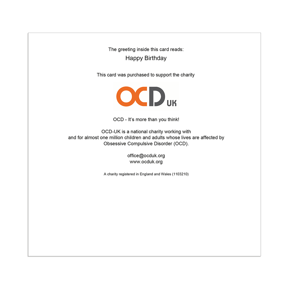 Special Birthday Wishes OCD UK