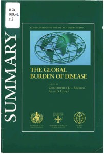 Image of the front cover of the The Global Burden of Disease report