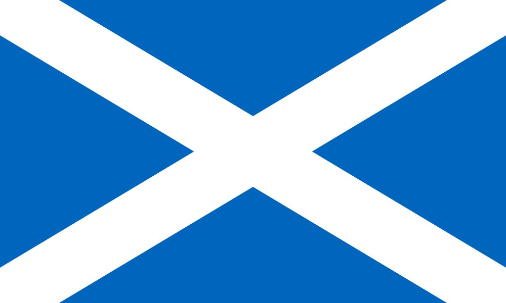 An image of the Scottish flag