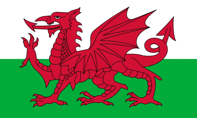 An image of the Welsh flag