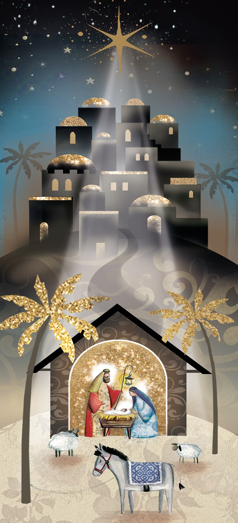 Religious Christmas Cards Uk.Away In A Manger