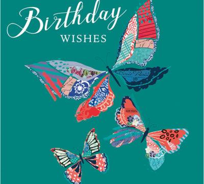 Paisley Birthday Butterflies