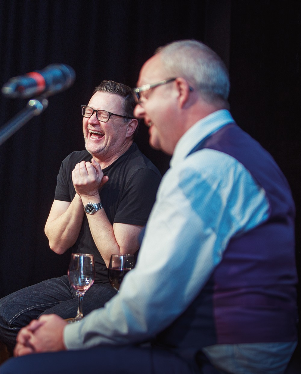 Ian Puleston-Davies with Ashley Fulwood together at an event in Halifax in 2018.